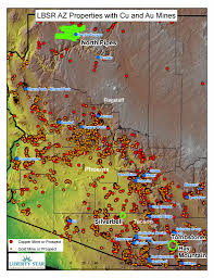 Map Az Hay Mountain Tombstone Super Project Liberty Star Uranium