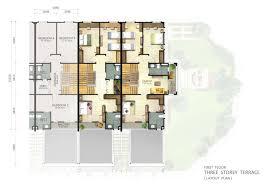 3 storey terrace first floor plan penang property talk