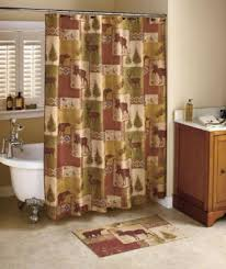 Moose Bathroom Accessories by Pinecone Shower Curtain Foter