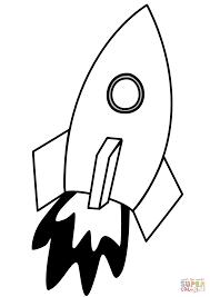 100 rocket coloring page vector of a cartoon man building a