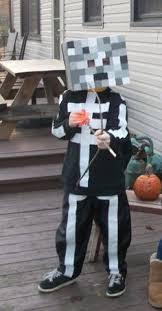 Halloween Minecraft Costume Homemade Minecraft Skeleton Costume Halloween