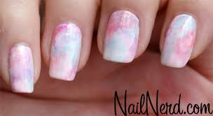 nail nerd nail art for nerds cotton candy sponge nails