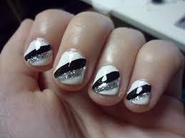 simple black and silver nail designs images nail art designs
