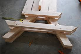Plans To Build A Picnic Table Bench by Craftyc0rn3r A Picnic Table For The Kids