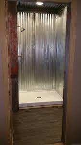 galvanized steel shower bathroom remodel pinterest