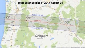Oregon Map by Totality Maps By State U2013 American Eclipse 2017