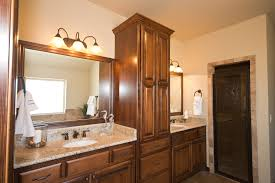 beacon master bathroom linen cabinet built into vanity giallo