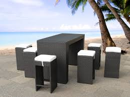 Wicker Resin Patio Furniture - poly rattan bar wicker outdoor furniture table 6 stools and