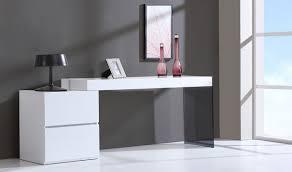 Modern White Office Desks Mia Modern Office Desk In White High Gloss Free Shipping Get