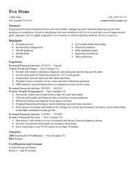 Recruiter Consultant Resume Best Personal Financial Advisor Resume Example Livecareer