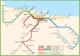 Metro Lines Map by Bari Metro Map