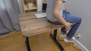 hands on uplift adjustable height standing desk features real