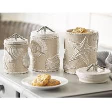 ceramic kitchen canister sets fioritura ceramic kitchen canister kitchen canister set starfish coastal coffee tea sugar flour jars