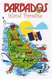 Map Of Western Caribbean by Barbados Map Postcard Via Swap Bot Postcard Exchange