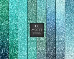 Ombre Background Blue Glitter Digital Turquoise Glitter Paper Blue Ombre