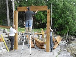 Timber Frame Pergola by Country Log Homes Timber Frame Pergola Kits Pergola Kits