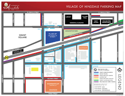 Chicago Parking Map by Welcome To Village Of Hinsdale Il