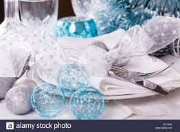 Black Blue And Silver Table Settings Stylish Blue And Silver Christmas Table Setting With A Pretty