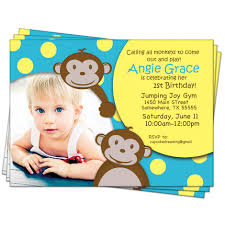 Birthday Invitation Cards For Kids Monkey Birthday Invitations U2013 Gangcraft Net