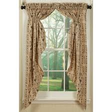 rooster print swag country style curtains sturbridge yankee