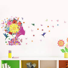 popular fairy wall decor buy cheap fairy wall decor lots from flower fairy decorative wallpaper stickers diy decals glass wall decoration home decor kid children room decorat