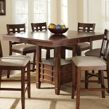steve silver bolton 7 piece counter table set w storage base in