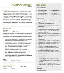 Summary Of Qualifications Sample Resume by 51 Teacher Resume Templates U2013 Free Sample Example Format