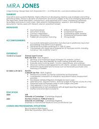 Sample Lawyer Resumes by Example Law Graduate Resume Templates