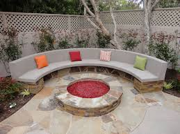 Fire Pit Pad by Stone Fire Pit And Bench Gemini 2 Landscape Construction