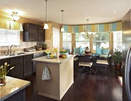 kitchen with dining room combination dark gray kitchen cabinet