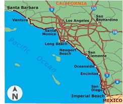 Newport Oregon Map by Map Of West Coast California California Map