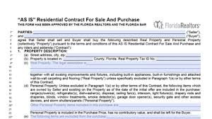 fsbo forms florida for sale by owner contract fl as is