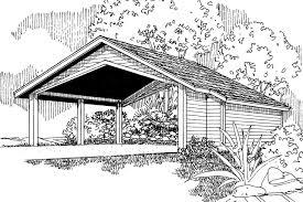 Carport Porte Cochere Traditional House Plans Carport W Storage 20 048 Associated