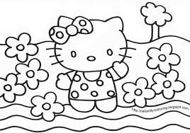 hello kitty valentines coloring pages getcoloringpages com