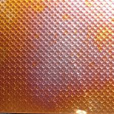 this squares on point patchwork textured copper sheet metal is