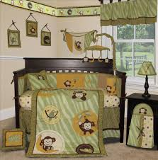 Monkey Crib Set Crib Bedding Light Green Creative Ideas Of Baby Cribs