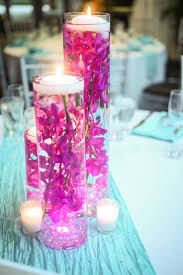 Purple Floating Candles For Centerpieces by Floating Candle Centerpiece Submerged Dark Blue Delphinium And