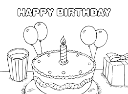 happy birthday cake coloring pages coloringstar