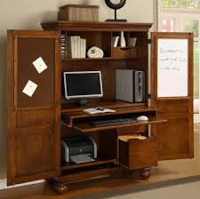 computer table armoire computer desk white locking sauder