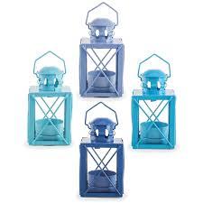 Nautical Home Accessories Frinton U0027 Set Of Four Coastal Blue Miners Lantern Tealight Holders