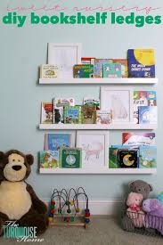 Kids Room Bookcase by Diy Bookshelf Ledges For The Nursery The Turquoise Home