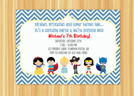 Halloween Free Printable Invitations Custom Printable Kids Costume Party Birthday Invitation 10 00