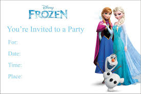 Birthday Invitation Cards Models Frozen Birthday Invitation Template Themesflip Com