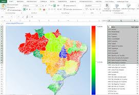 Excel Heat Map Excel Add In Heatmap Brazil Municipalities Maps4office