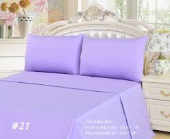 Purple Bed Sets by Tache 2 To 3 Pc Cotton Solid Lavender Dreams Light Purple Bed