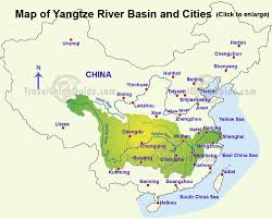 China Topographic Map by Yangtze River China Facts History Attractions With Cruise Tours