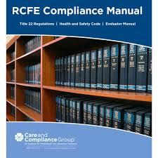 california rcfe compliance manual title 22 h u0026s code evaluator