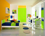 Kids Room In Fresh Orange Ideas For 2013 Design Note Space Saving ...