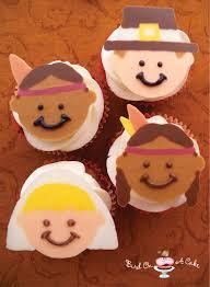 pilgrims on thanksgiving bird on a cake thanksgiving pilgrim u0026 indian cupcake toppers