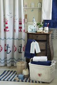 Beach Themed Bathrooms by Bathroom In Blue And White Featured Inspiring Decor For